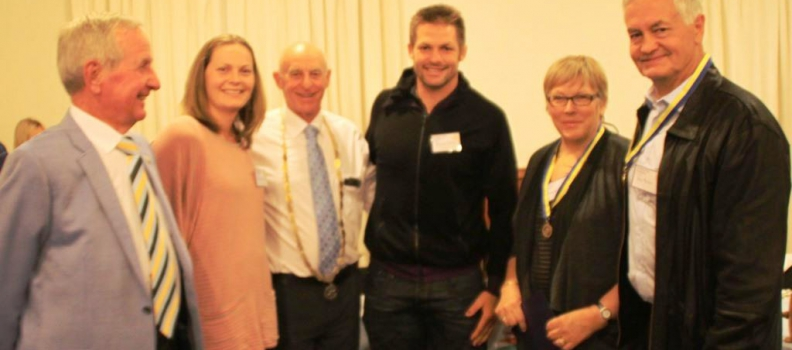 Richie McCaw's Parents Honoured By Rotary